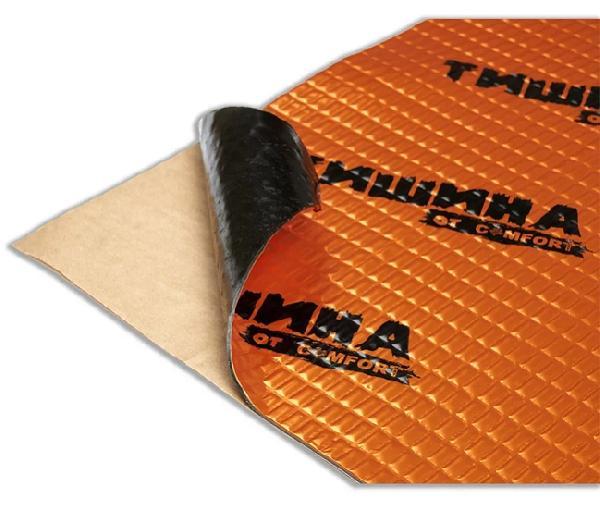 Вибродемфирующий материал Comfort ТИШИНА Bronze 2