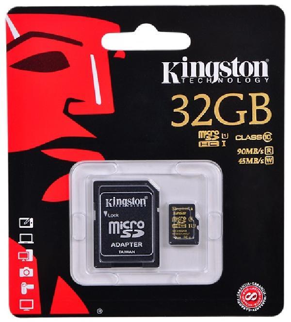 Kingston MicroSD 32Gb UHS-I U3