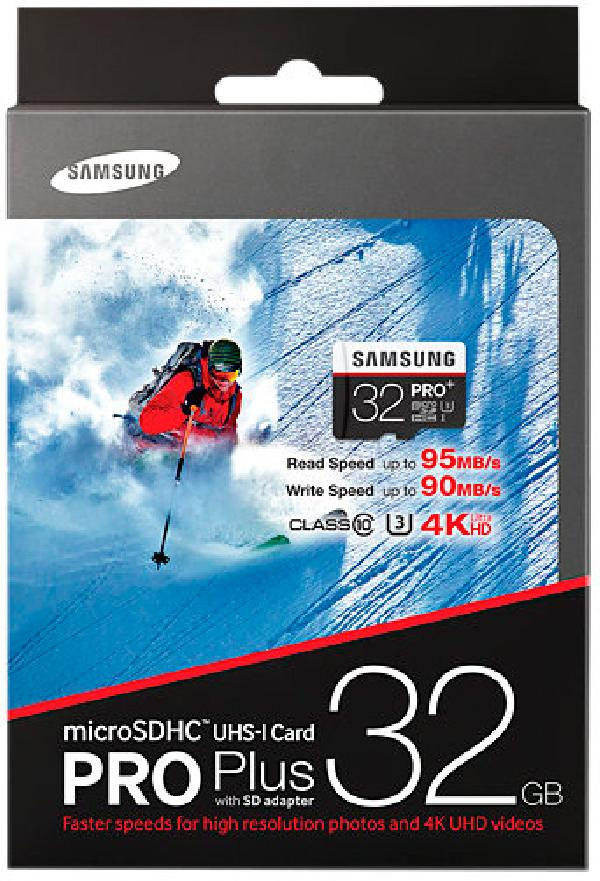 Карта памяти Samsung MicroSD 32Gb UHS-I U3 Pro PLUS