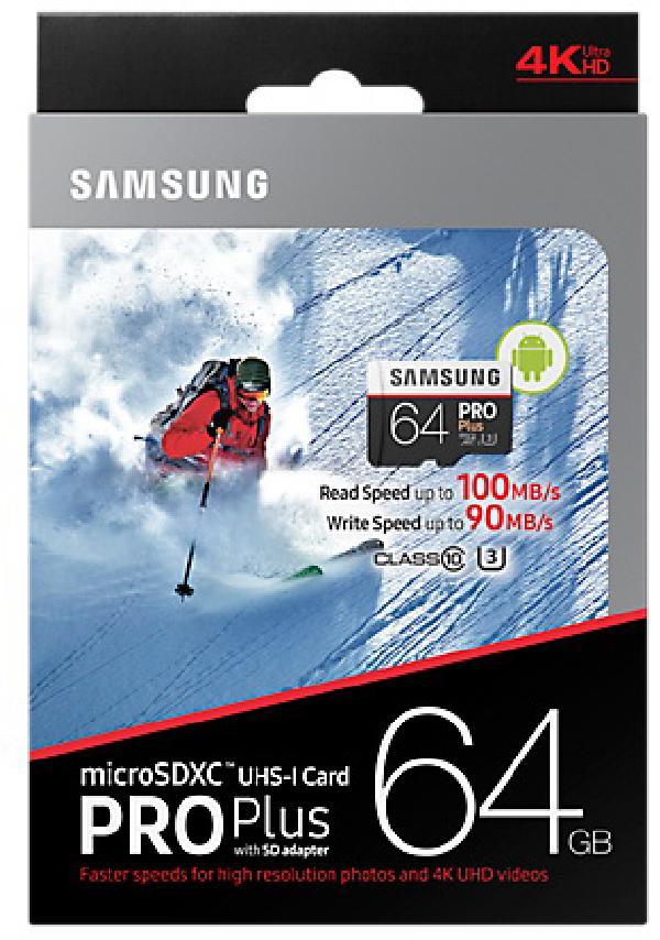 Samsung MicroSD 64Gb UHS-I U3 Pro PLUS