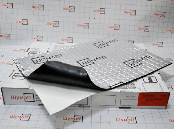 Вибродемфирующий материал Шумофф Микс Ф (маленький лист)