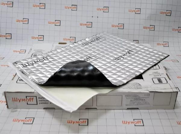 Вибродемфирующий материал Шумофф Проф 4Ф (маленький лист)
