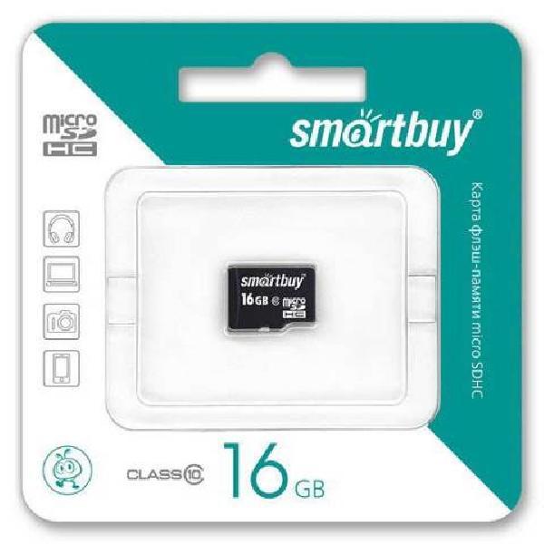 Карта памяти Smartbuy MicroSDHC 16Gb Class 10 (без адаптера SD)