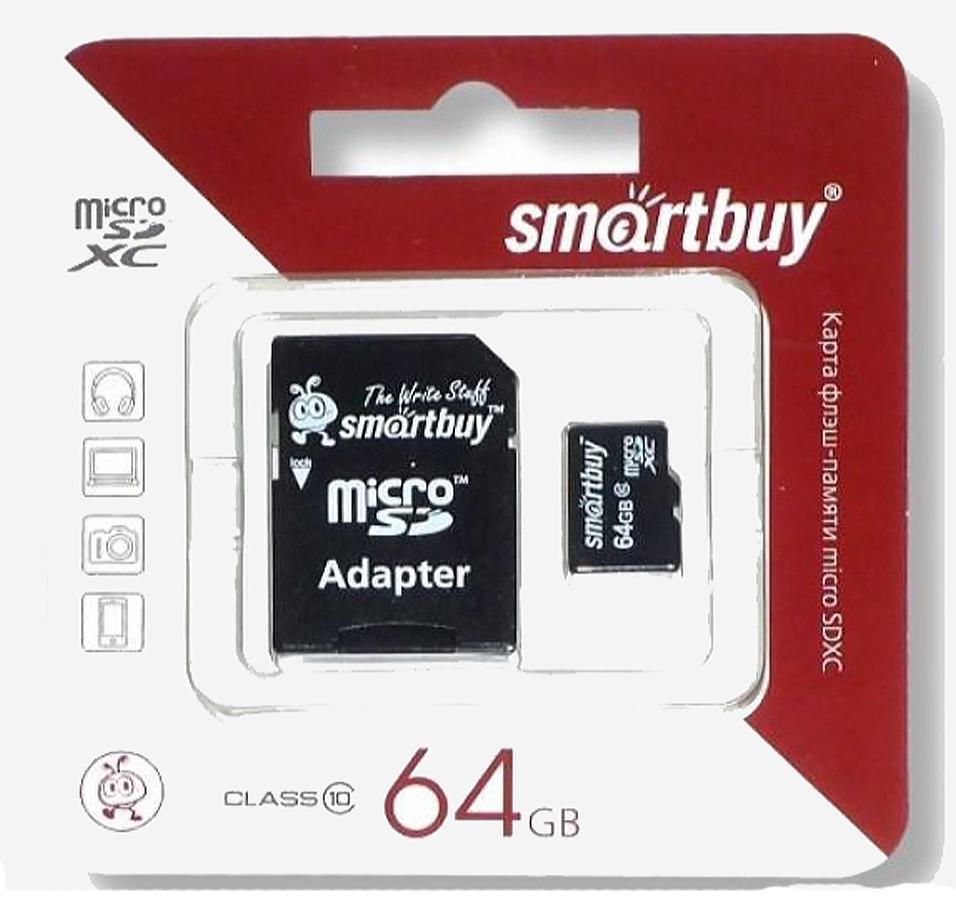 Smartbuy MicroSDHC 64Gb Class 10