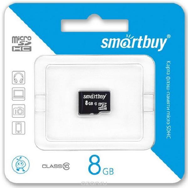Карта памяти Smartbuy MicroSDHC 8Gb Class 10 (без адаптера SD)