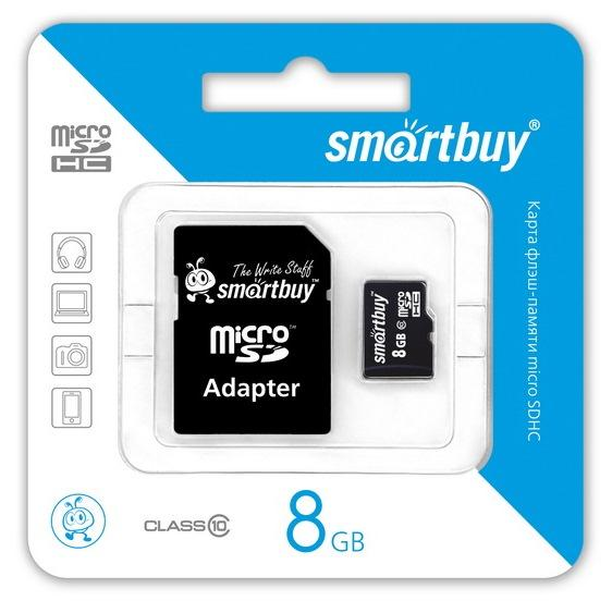 Smartbuy MicroSDHC 8Gb Class 10