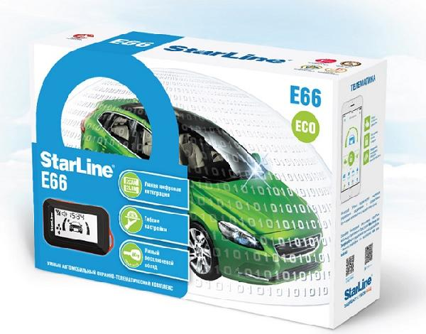 Сигнализация StarLine E66 2CAN+2LIN ECO